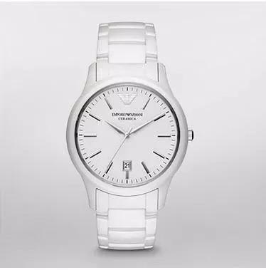52d28ea9793 Relógio Masculino Emporio Armani Ar1476 Branco Cerâmica - R  430