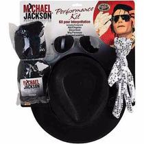 Michael Jackson Disfraz Lentes Guantes Sombrero Peluca Kit