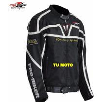 Chamarra Motociclista Pro Biker Con Protecciones Envio Grati