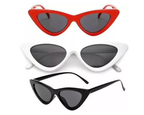 3a45968c8 Óculos De Sol Feminino Retrô Gatinho Estiloso Proteção Uv - R$ 26,99 ...