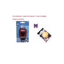 Furador Scrapbook Cabeça Do Mickey + Furador Laço Minnie
