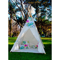 Carpa India - Tipi - Teepee - Casita Infantil + Funda