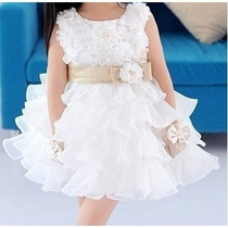 Vestido Festa Importado Infantil Batizado Casamento Formatur