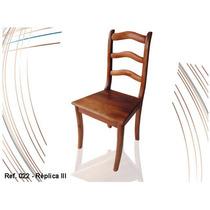 Móveis Em Madeira Maciça - Cadeira Colonial Réplica 3