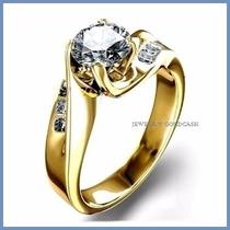 Anillo De Compromiso Diamante Natural .50ct Oro 18k -50% 257
