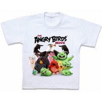 Blusa Camisa Camiseta Personalizada Angry Birds Movie