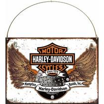 Cartel Chapa Publicidad Antigua Logo Harley Davidson M243