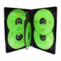 Estuche De 22mm Para 6 Discos Cd Dvd Cubierta Plástica