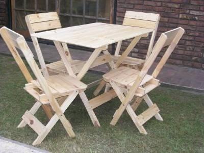Mesas plegables de madera de 4 puestos para adultos bs for Compra de sillas plegables