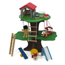 Casa Da Árvore - Brinquedo De Madeira