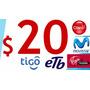 Minutos Celular Llamadas Voip Recargas 7,5% Distribuidores