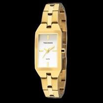 Relógio Technos Feminino Quadrado 5y30xm/4b Dourado Wr 50m/