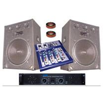 Equipo De Audio Completo 2 Bafles Potencia Y Consola Usb