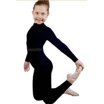Malla Enteras Manga Larga Cuello Alto Danza Ballet Flamenco