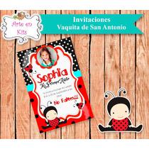 Tarjetas Invitaciones Vaquita San Antonio X10u De 10x15 Cm