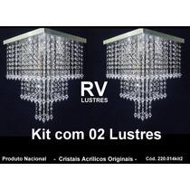 Lustres De Cristais (kit 02 Peças) - Cód. 220.014kit2