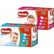 2 Hiperpacks Huggies Natural Care Para Ellos Y Ellas