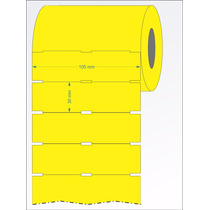 Etiqueta Gondola 105x30 - 32 Metros Amarela - Zebra Tlp 2844