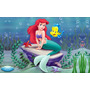 Painel Festa Aniversário Pequena Sereia Ariel 1,50 X 2,00m