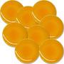 Kit 8 Pratos De Cerâmica Amarelo 27 Cm Raso Personalizado