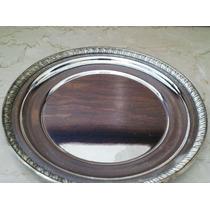 6 Platos De Pan Metal Plateado Baño De Plata Sahir Impecable