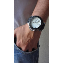 Relógio Masculino Prata Dourado Branco Relogio Top