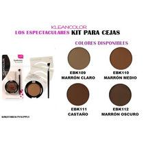 Sombra De Cejas Kleancolor, Viene Con Brocha Y Plantilla