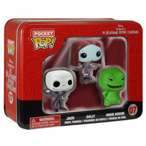 Funko Pocket Pop! Nightmare Before Christmas 3 Mini Figuras