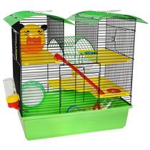 Gaiola Para Hamster Mansão 3 Andares Confortável Verde