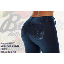Jeans Colombianos Push Up Color Azul Oscuro / Grupoborder