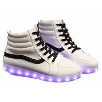 Zapatos Tenis Choclo Led Luminosos Luz Colores Modelo 2017**
