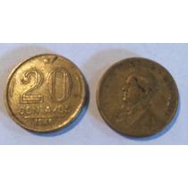 Moeda Antiga De 20 Centavos 1945