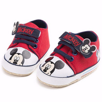 Sapatilhas Sapatos Tênis Para Bebês Mickey - 12 A 18 Meses