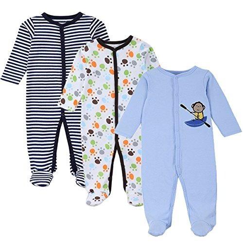 bf24894d23 Pijamas Para Bebé 3 Paquetes Recién Nacidos Manga Larga -   122.728 ...