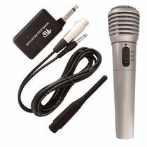 Microfone Com E Sem Fio Wg309 Semi Profissi - Pronta Entrega