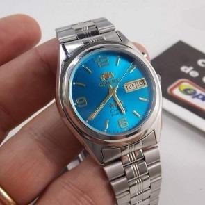 db2b409e251 Relogio Orient Automatico Classico Aco Masculino Azul - R  236