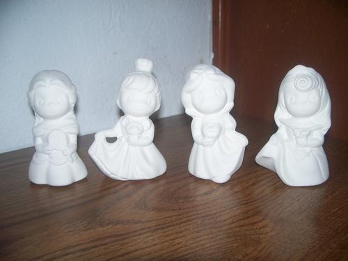 Princesas disney ceramica yeso figura para pintar aurora for Figuras ceramica