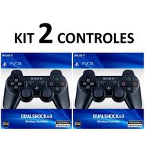 Kit 2 Controles Ps3 S/ Fio Original Controle Playstation 3