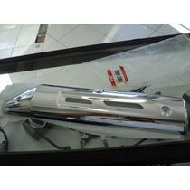 Protetor Escapamento Yes125 Se 2012 Cromado Original Suzuki