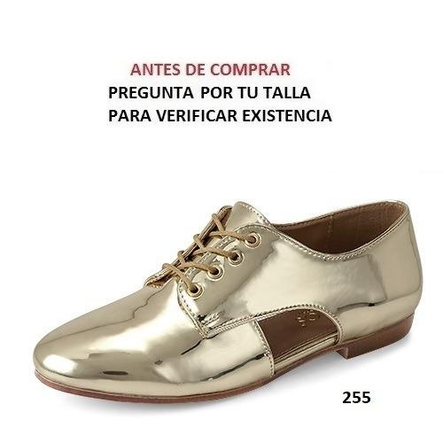 5c36c73b6 Zapatos Milagros Para Dama Color Inox Y Oro Ingles Mod. 4228 -   550.00 en  Mercado Libre