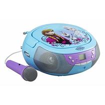 Grabadora Disney Frozen, Radio Fm, Cd, Microfono,e.auxiliar.