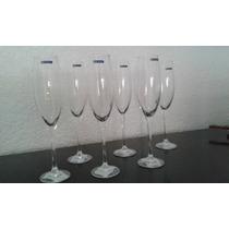 Copa De Vidrio Flute Para Champagne (juego)