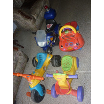 Combo Triciclos Fisher Price, Carrito Andadera Y Moto Elect