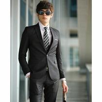 Elegantes Ternos Slim Fit Modelos Koreanos