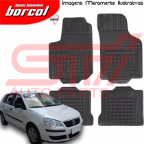 Tapete Borracha Interlagos Polo Hatch 2007 2008 Borcol 4 Pçs