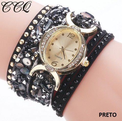 02364dc6b81 Relógios Femininos 1776 Baratos Strass Pulseira Bracelete Br - R  25 ...