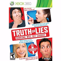 Truth Or Lies Some Will Get Caught - Xbox 360 - Frete Grátis