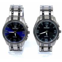 Relógio Unisex De Luxo Azul Ou Preto Envio Em 24hs Barato