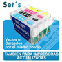 Set Cartuchos Recargables Epson Llenos Mejorq Ciss Continuos