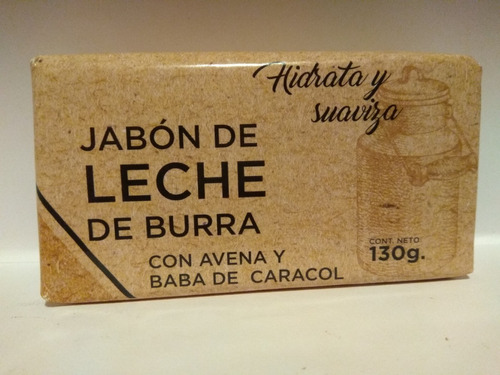 Jabon De Leche De Burra Con Avena Y Baba De Caracol 130g